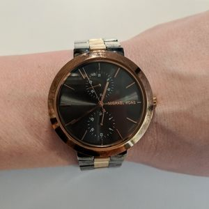 Michael Kors // Two Tone Garner Gunmetal Watch
